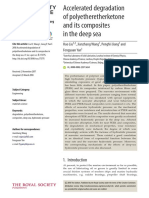 Accelerated Degradation of Polyetheretherketone and Its Composites in the Deep Sea