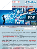 Media Industry Mailing Leads