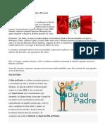 Celebración Del Día de La Bandera Peruana