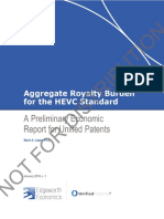 Public Outline - Aggregate Royalty Burden for the HEVC Standard January 2019 Mario a Lopez