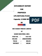 Pre-feasibilityReport LPG BOTTLING