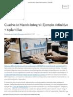 Cuadro De Mando Integral_ Ejemplo Definitivo + 6 Plantillas