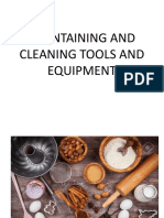 Maintaining and Cleaning Tools and Equipment