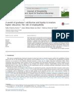 A Model of Graduates' Satisfaction and Loyalty Intourism Higher EducationTheroleofemployability