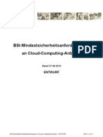 Cloud Computing Mindestsicherheitsanforderungen