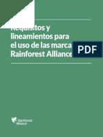 SPANISH_Rainforest Alliance Trademark Guidelines_2016