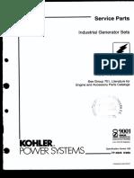 Servisio de Partes 13.5 -18.0rozj Kohler