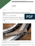 16 Herramientas de Bicicletas Esenciales Que Debes Tener