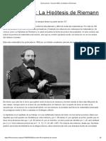 La Hipótesis de Riemann
