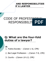 Code of Professional Responsibility