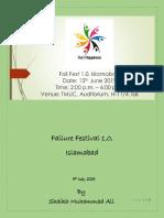 Failure Festival 1.0 Islamabad