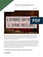 Aprenderinglesgo.com-8 Actividades Para Mejorar El Speaking Inglés Oral