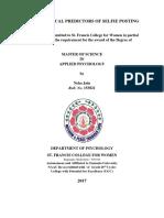 PSYCHOLOGICAL PREDICTORS OF SELFIE POSTING.docx