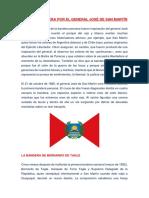 Primera Bandera Por El General José de San Martín