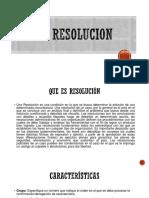La Resolucion