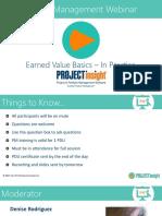Basics of Earned Value Analysis