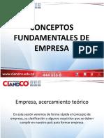 Concepto Fundamentales de Empresa