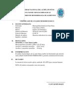 Certificado de Analisis Microbiologico
