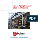 Aramco Piping Interview Question and Answers