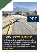 09-07-19 Reabren puente de Rangel Frías