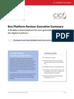 [Analyst Report] CIC Spotlight Box Platform Executive Summary Final (1)