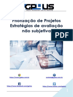Priorização de Projetos - Estrategias de avaliação não subjetiva