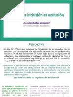 Cuando la inclusión es exclusión