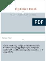 Fisiologi Cairan Tubuh_Poltekes Gizi