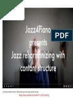 Jazz Reharmonization Tutorial - Jazz4Piano