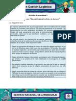 Desarrollo -Evidencia 3 Analisis de Caso Generalidades de La Oferta y La Demanda