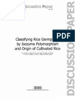 Classifying Rice Gemplasm by Isozyme Polymorphism and Origin of Cultivated Rice