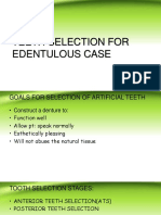 TEETH SELECTION FOR       EDENTULOUS CASE.ppt