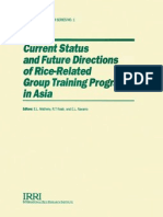 Current Status and Future Directions of Rice-Related Group Training Programs in Asia