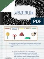 CATEGORIZACIÓN