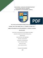 Plan de Mantenimiento Preventivo Basado en El Tiempo Tractor Sobre Oruga Caterpillar d5b de La Dirección Regional de Transportes y Comunicaciones Huaraz2018