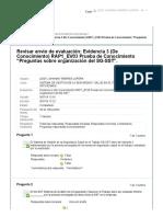 """Evidencia 3 (De Conocimiento) RAP1_EV03 Prueba de Conocimiento """"Preguntas sobre organización del SG-SST"""""""
