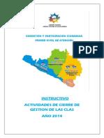 2014-Instructivo Cierre de Gestión Clas 2014