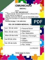 ROL 1 de examenes MENSUALES de JUNIO 2019 (2).pdf