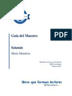 Guia Del Maestro - Satanas Mario Mendoza