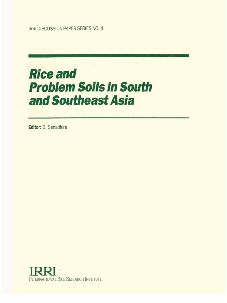 Rice And Problem Soils In South Southeast Asia Vitamin B Complex Ipi Isi 50 Tablet 1539420697v1