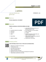 Company Policies British English Intermediate