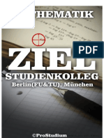 Ziel Studienkolleg. Mathematik (Berlin (Fu &Amp; Tu), München)_ ...