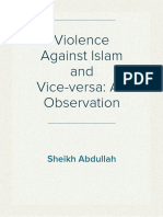 Violence against Islam and vice-versa