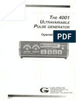 Global Specialties 4001 Manual