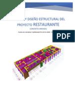 Analisis y Diseño Estructral Del Restaurant Concreto Armado de Angelica