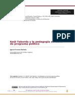 Saúl Taborda y la pedagogía en clave de programa político