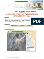 Reporte Preliminar Nº 026 - 03jul2019 - Accidente Vehicular Paramonga