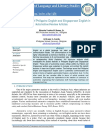 222Stylistic Analysis of Philippine English and Singaporean English in Automotive Review Articles