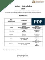 Complete Schedule PcM 2020