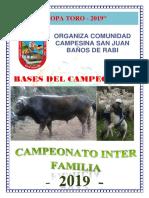 Bases Inter Familia comunidad